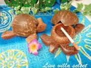 【ハワイアン】□ココナッツホヌ(カメ)の灰皿101926