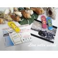 【ハワイアン】◆3色のサンダルとプルメリアのマグネットセット 102093