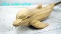 【マリン】★木彫り・イルカ 102507