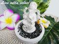 【アジアン】☆バリ島 仏陀・ガネーシャお香立SET ホワイト 501204w