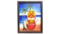 【ハワイアン】◆ティキアート壁掛けオブジェ絵画 SX043LA20748B