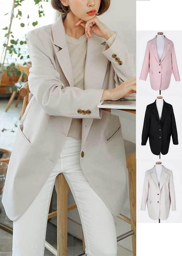 【春新作】シンプルでベーシック♡ジャケット(ベージュ/ブラック/ピンク)【Lサイズ LLサイズ 3Lサイズ 4Lサイズ 5Lサイズ 6Lサイズ】