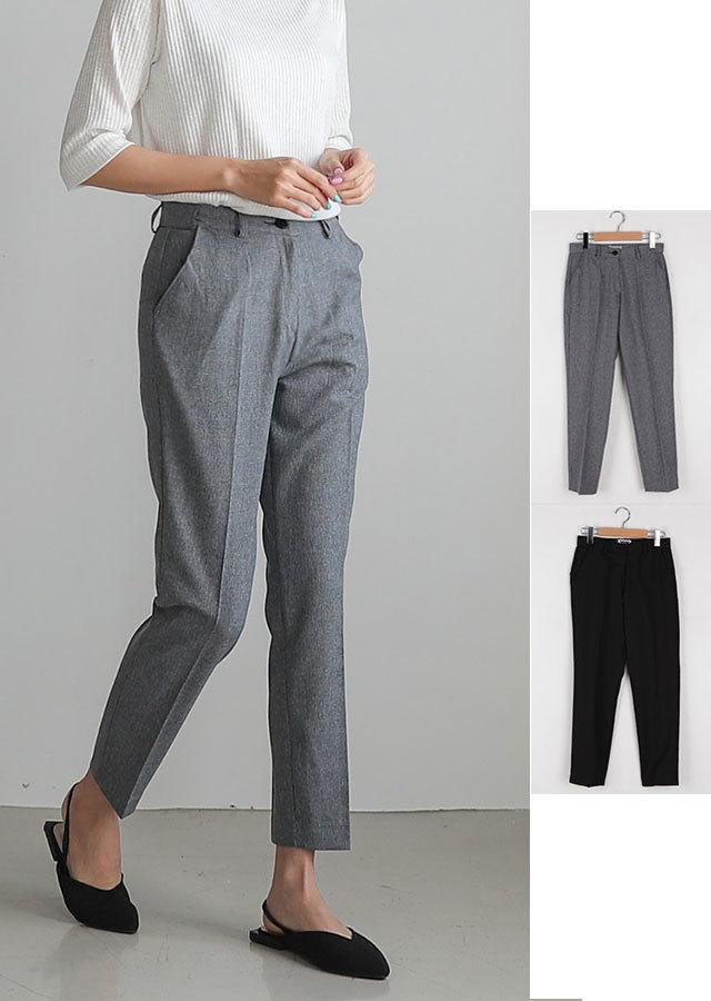 【春新作】裏隠しゴムウエストでもっと楽に履けるスラックスパンツ(チャコール/ブラック)【Lサイズ LLサイズ 3Lサイズ 4Lサイズ】