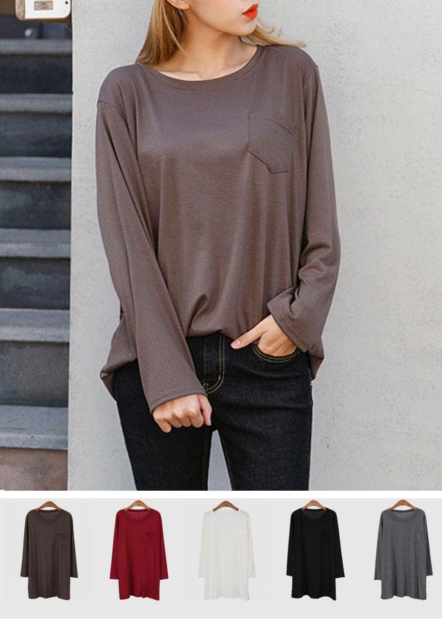 TP28500/ラウンドネックポケットTシャツ(アイボリー/ブラック/ブラウン/ボルドー/チャコール)【LサイズLLサイズ3Lサイズ4Lサイズ5Lサイズ6Lサイズ】