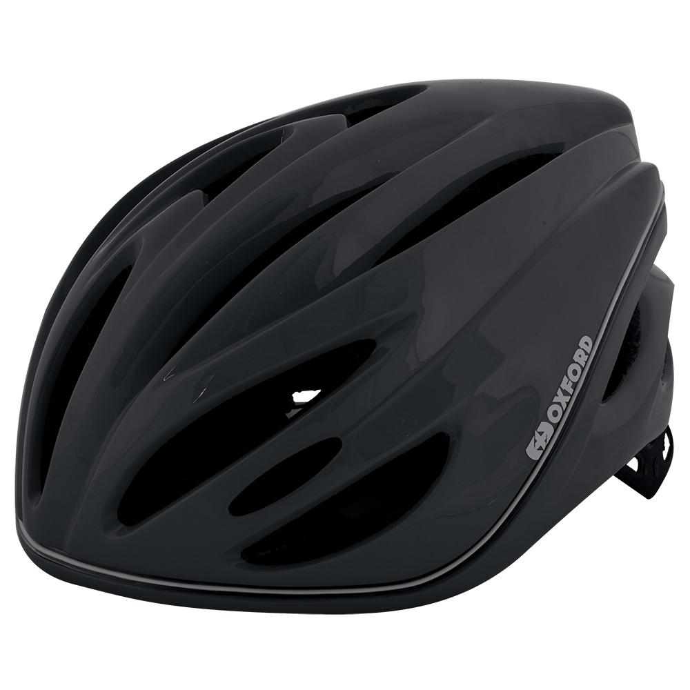 自転車ヘルメット LEDライト 360° メトロ-グローヘルメットMブラック L1701.11