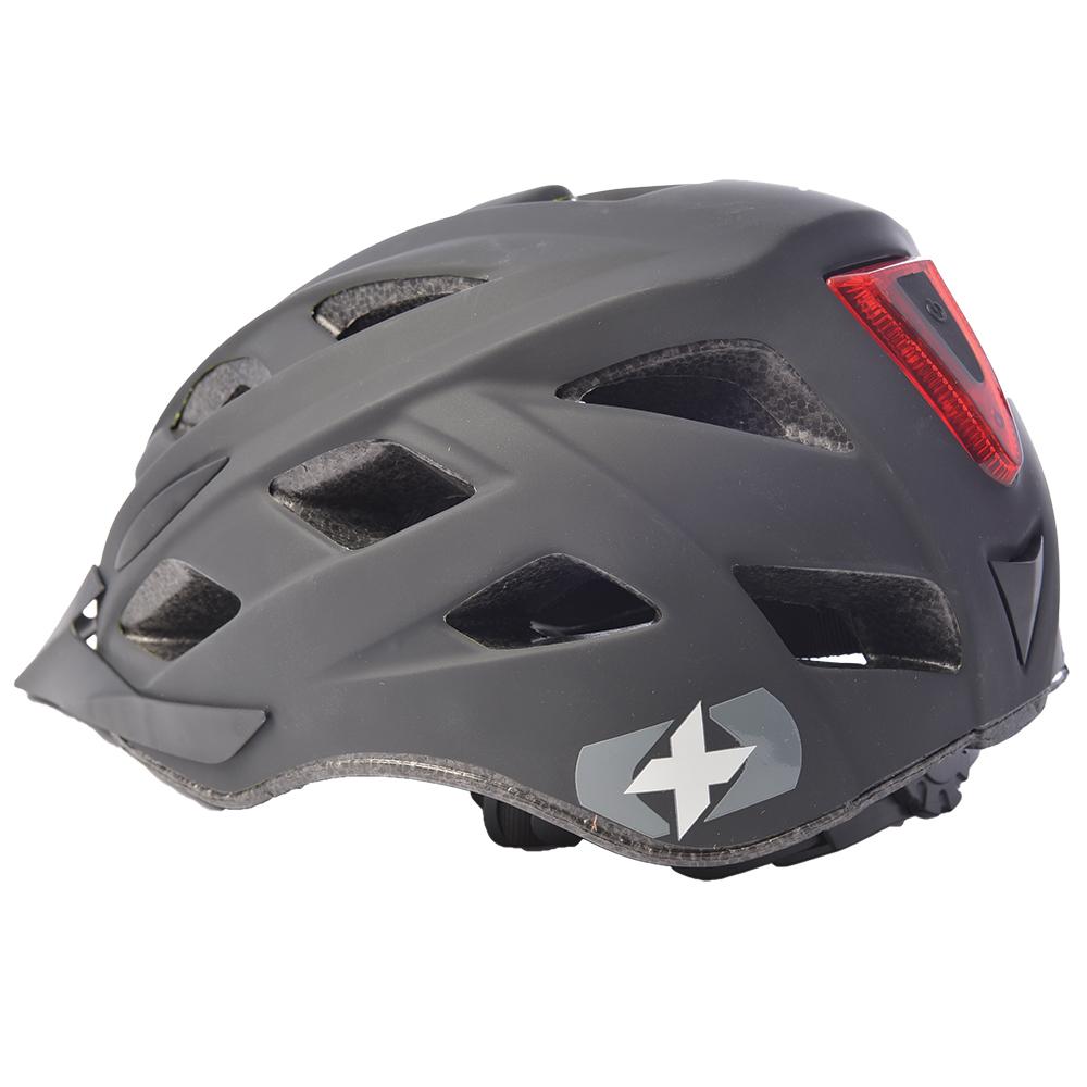 自転車ヘルメット LEDライト付き メトロ-VヘルメットLマットブラック L1703.10