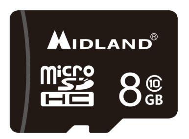 マイクロSDカード(8GB, class10)L1310 MIDLAND XTC-290での動作確認済み [普通郵便可]