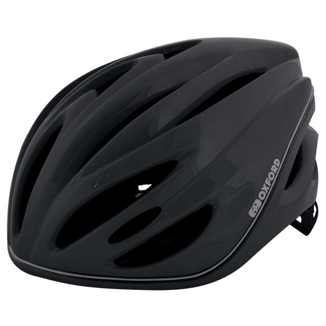 自転車ヘルメット LEDライト 360° メトロ-グローヘルメットLブラック L1701.10