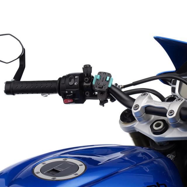 UA(ユーエー)専用 クイック リリースマウント 直径 21-28mm 対応 スクリュータイプ 左右360度回転可 取付工具不要 ※ホルダー別売 UA-BIKE