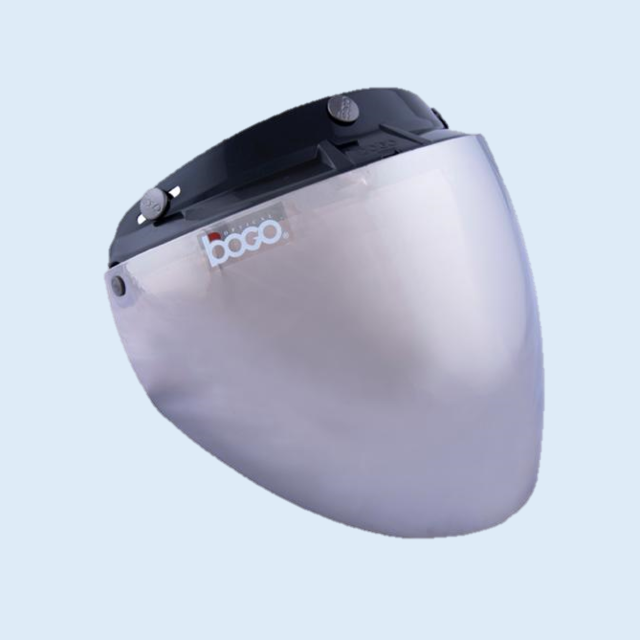 BOGO ジェットシールド フリップアップ 開閉式 ベース付き イリジウムシルバー BG25-B12