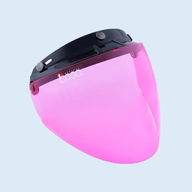 bogo ジェットシールド フリップアップ 開閉式 ベース付き ピンク BG25-B18