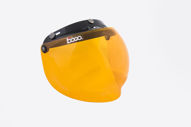 bogo ヘルメット用バイザー バブルシールド オレンジ bg09g21