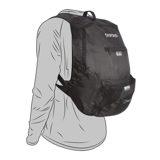 オックスフォード(OXFORD) ハンディサック ポケッタブルヘルメットリュック ブラック 15L OL860