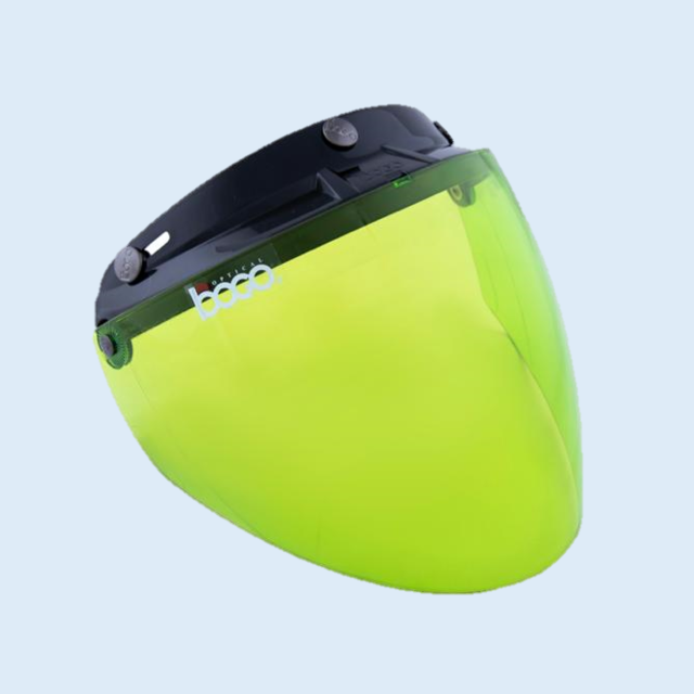 bogo ジェットシールド フリップアップ 開閉式 ベース付き グリーン BG25-B22