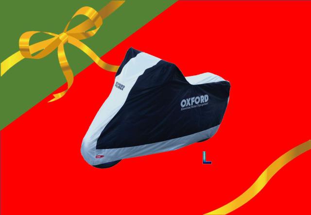 オックスフォード(OXFORD) バイクカバー Lサイズ 防雪 防雨 防塵 紫外線防止 屋内・屋外両用 盗難防止 Aquatex CV200JDL