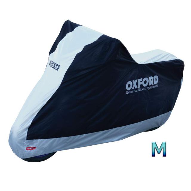 オックスフォード(OXFORD) バイクカバー Mサイズ 防雪 防雨 防塵 紫外線防止 屋内・屋外両用 盗難防止 Aquatex CV200JDM