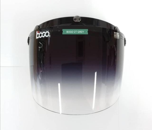 bogo ヘルメット用バイザー バブルシールド グレーグラディエント bg09g2