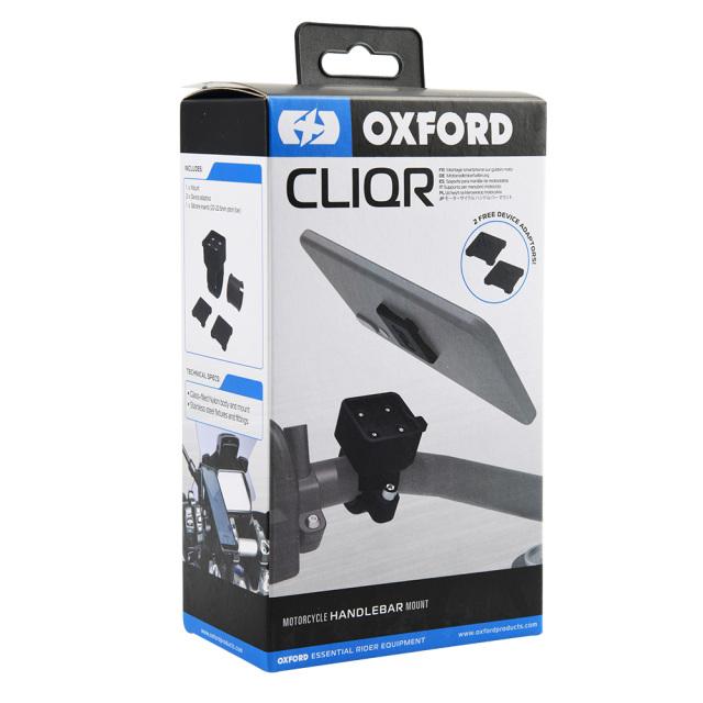 [箱潰れ品・箱損傷有の為15%OFF]OXFORD CLIQR(クリッカ) オートバイ用ハンドルマウント OX850