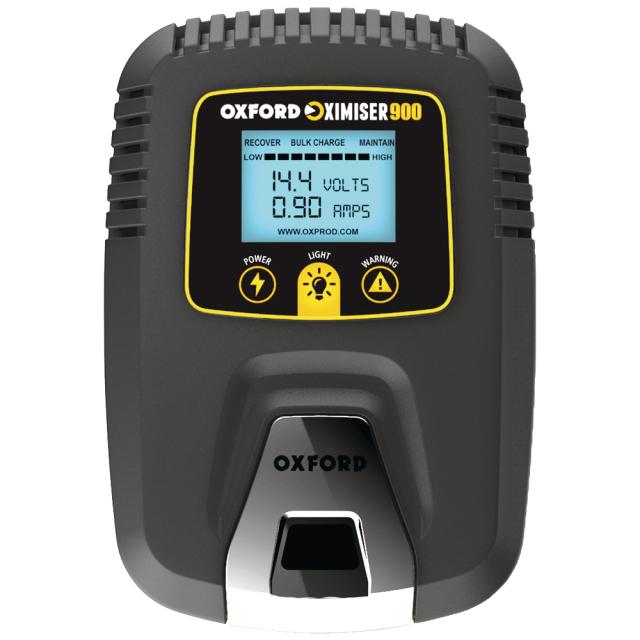 【近日発売】OXFORD  Oximiser900 バイク用 バッテリー充電器 PSE認可取得済み ディスプレイ付き バッテリーチャージャーEL571JPD