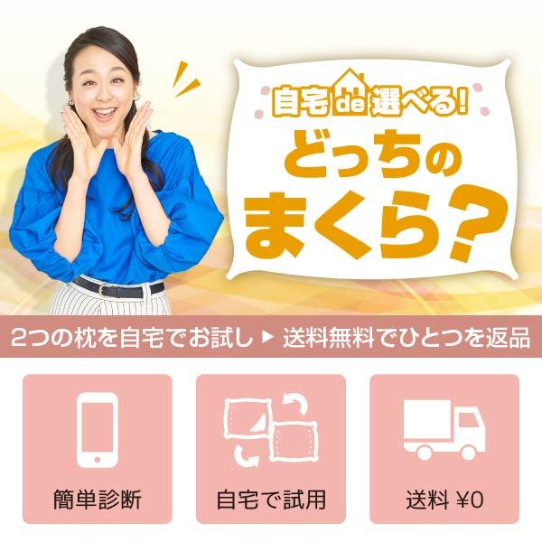 どっちのまくら?【数量限定】自宅で2つの枕が選べるキャンペーンセット