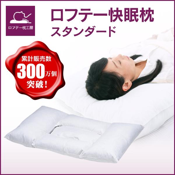 ロフテー快眠枕(羽根/エラスティックパイプ/剛炭パイプ)