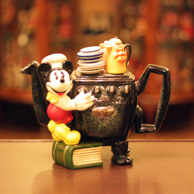[ポール・カデュー作品]ディズニー ミッキーマウス リミテッド COLL-155【英国(イギリス)】【ティーポット】【装飾ティーポット】【中古】