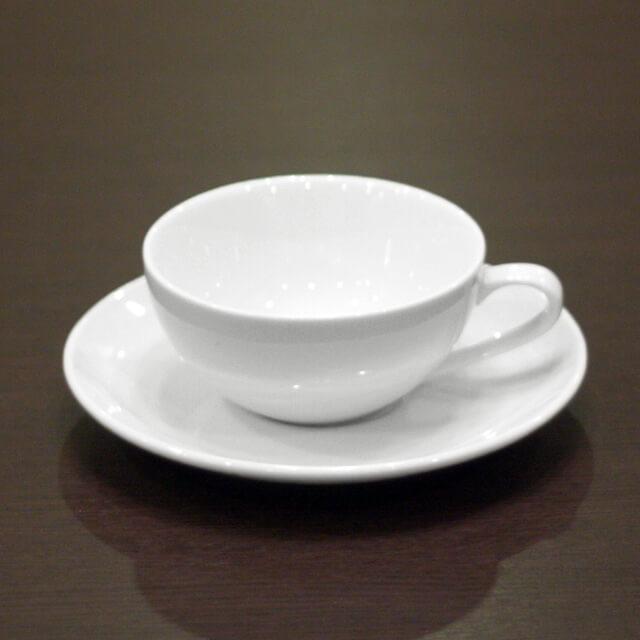 陶器ティーカップ&ソーサー6客セット(無地)/業務用/国産