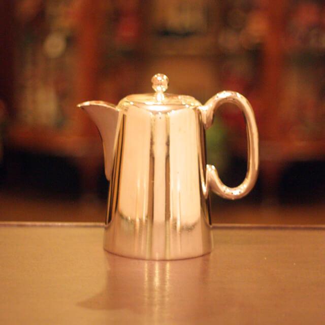 harrods(ハロッズ)ホテル用コーヒーポットHR-665【アンティーク】【中古】【イギリス製】【シルバー】