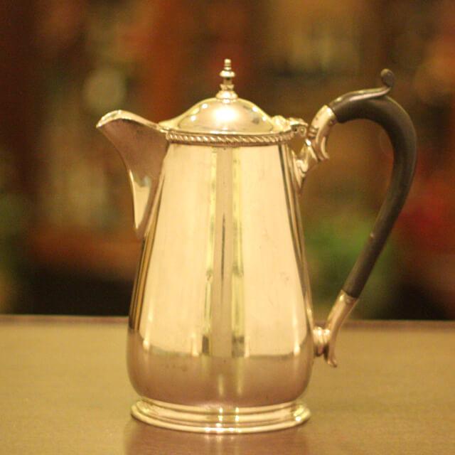 【中古】harrods(ハロッズ)家庭用コーヒーポット HR-672【アンティーク】【イギリス製】【シルバー】