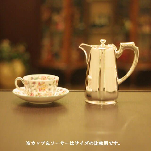 【中古】harrods(ハロッズ)ホテル用コーヒーポット HR-693【アンティーク】【イギリス製】【シルバー】