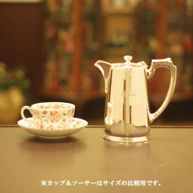 【中古】harrods(ハロッズ)ホテル用コーヒーポット HR-695【アンティーク】【イギリス製】【シルバー】