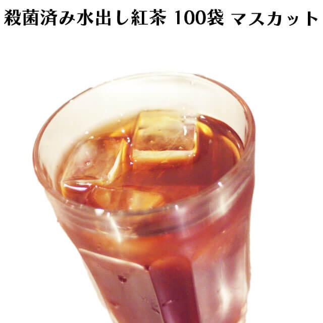 ロンドンティールームの殺菌済み水出し紅茶 マスカット(100ティーバッグ入)【アイスティー】【殺菌済み】【角型ティーバッグ】