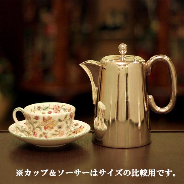 【中古】SHEFFIELD(シェフィールド) 業務用コーヒーポット sh-876【アンティーク】【イギリス製】【シルバー】