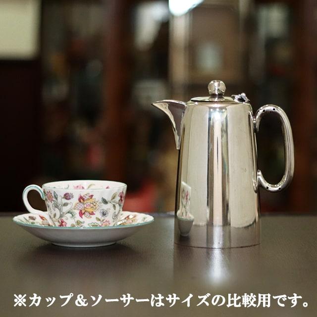 【中古】【アウトレット】SHEFFIELD(シェフィールド) コーヒーポット sh-953【アンティーク】【イギリス製】【シルバー】