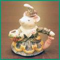 Lady Mouseのティーポット COLL-147【中古】【装飾ティーポット】