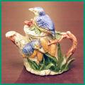 青い鳥のティーポット COLL-148【中古】【装飾ティーポット】