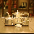 London Tea Roomオリジナルロゴ入りMappin&Webb(マッピン&ウェッブ)ホテル用ティーセット LTR-01【アンティーク(中古品)】【イギリス製】【シルバー】