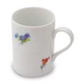 陶器製マグカップ(花柄)