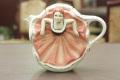 [紅茶専門店]カンカンガールのティーポット COLL-118【英国(イギリス)】【未使用】アンティーク