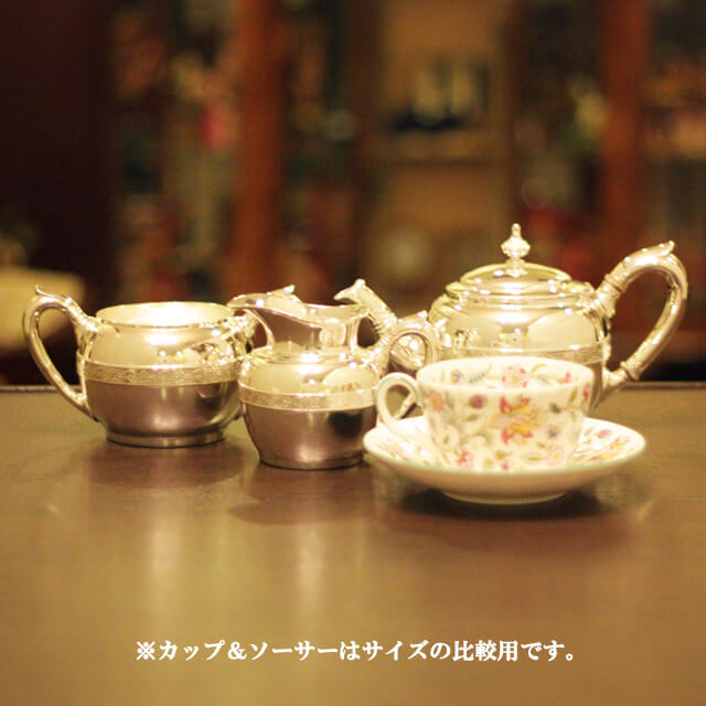 【中古】Tiffany(ティファニー)家庭用3点ティーセット tf-55【アンティーク】【アメリカ製】【シルバー】