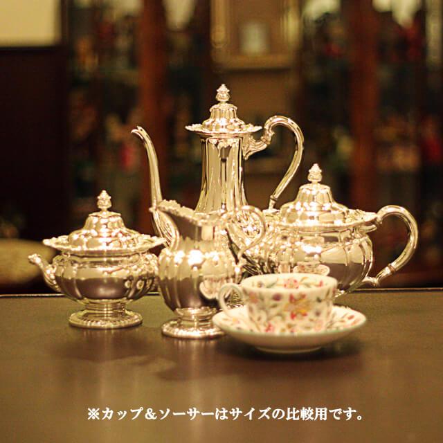 【中古】Tiffany(ティファニー)家庭用4点ティーセット tf-58【アンティーク】【アメリカ製】