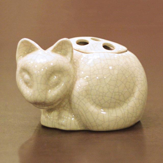 【中古】Tiffany(ティファニー)小猫ポプリホルダー(香炉) 磁器 tf-87