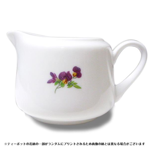 陶器製ミルクポット(花柄)