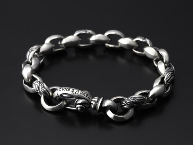 Carved Silk Link Bracelet Small(Plain Circle) Medium