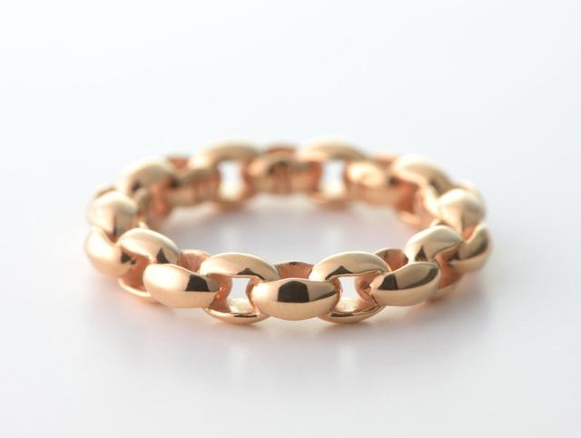 Mini Silk Link Ring-K18-Pink Gold -ミニシルクリンクリング K18PG-