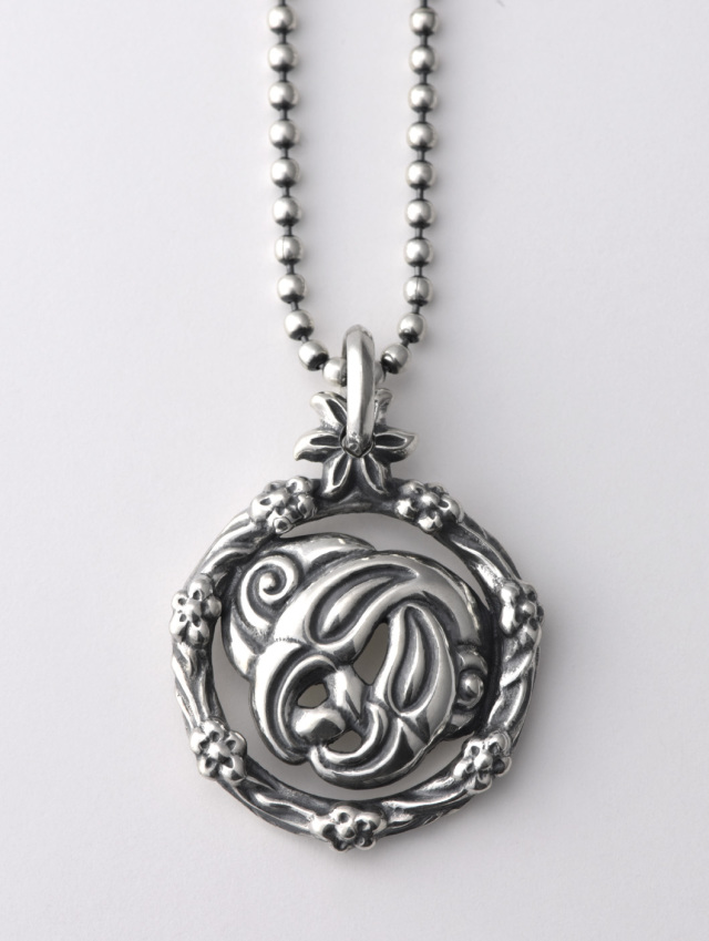 Floral Nest Pendant with 2mm Ball Chain