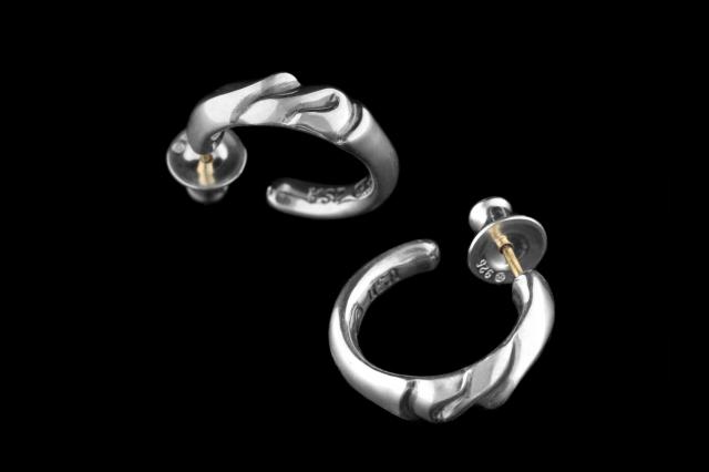 E (Tea) Hoop Earring Large -ティーフープイヤリング ラージ-