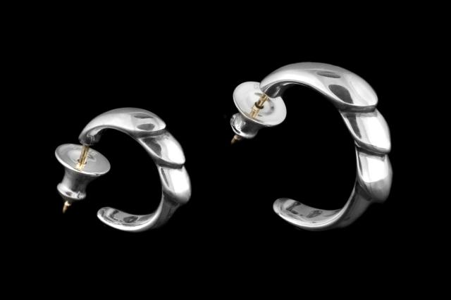 K&F (Kisses) Hoop Earring Large -キスアンドフローフープイヤリング ラージ-