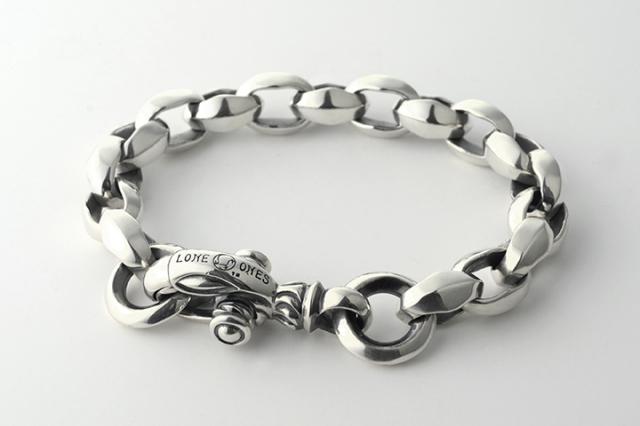 Silk Link Bracelet Medium (Plain Circle) Medium シルクリンクブレスレット ミディアム プレーンサークル ミディアム-