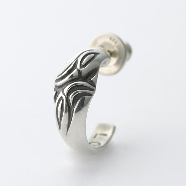 Carved Silk Hoop Earring L -カーヴドシルクフープイヤリング ラージ-